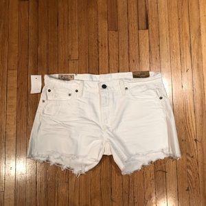 Ralph Lauren white denim shorts